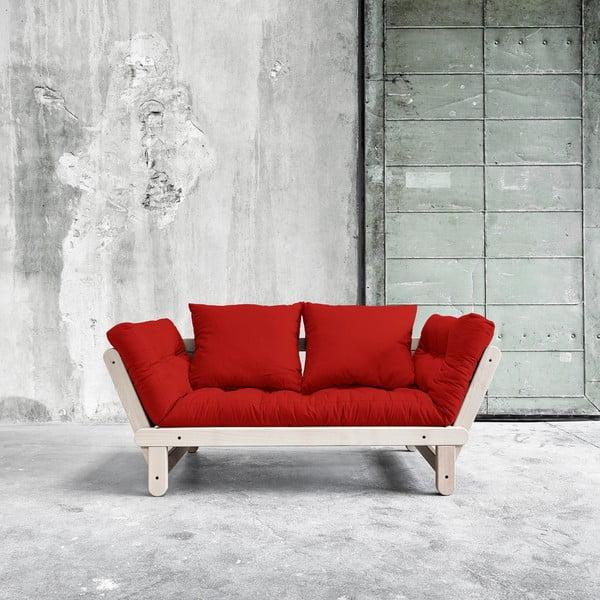Sofa rozkładana Beat Beech/Red