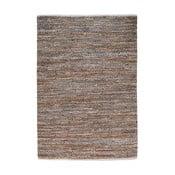 Dywan denimowy przeplatany ze skórą Atlas Beige/Chestnut, 160x230 cm