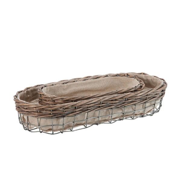 Zestaw 2 owalnych koszyków Reed