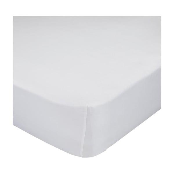 Białe elastyczne prześcieradło HF Living Basic, 140x200 cm