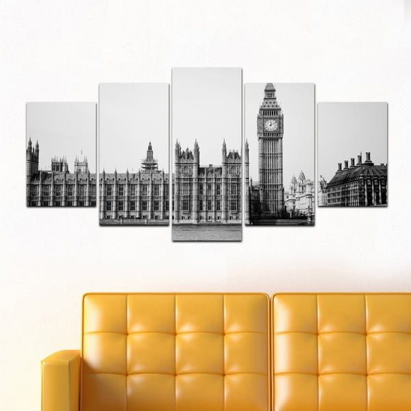 Wieloczęściowy obraz Black&White no. 14, 100x50 cm
