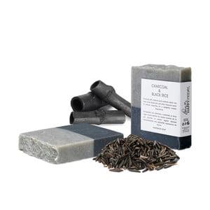 Mydło naturalne z aktywnym węglem i czarnym ryżem HF Living