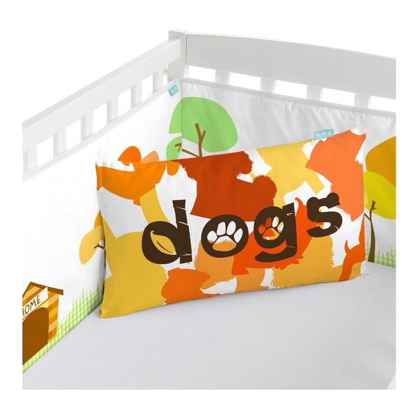 Ochraniacz do łóżeczka Dogs, 70x70x70 cm
