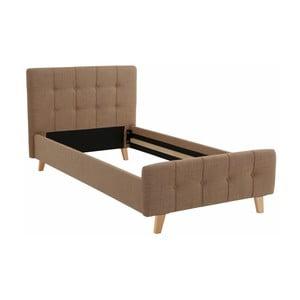 Brązowe łóżko jednoosobowe Støraa Limbo, 100x200cm