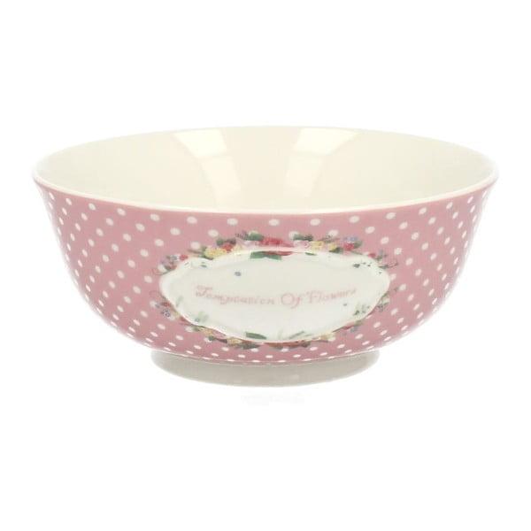 Porcelanowa miska Retro Pink, 16 cm