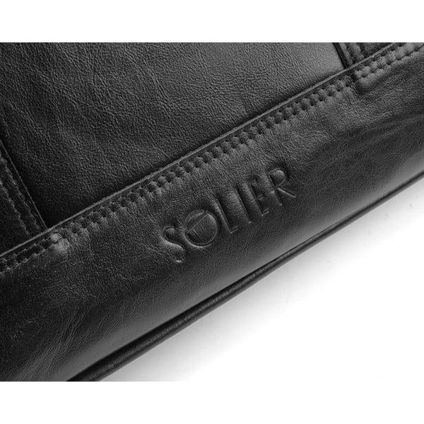 Torba męska Solier SL02, czarna