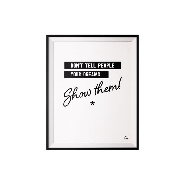 Plakat Do not tell, 50x70 cm