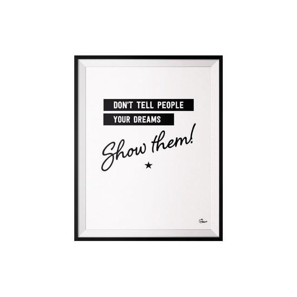 Plakat Do not tell, 40x50 cm