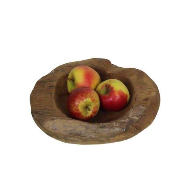 Misa na owoce z drewna tekowego HSM Collection Mara, 30 cm