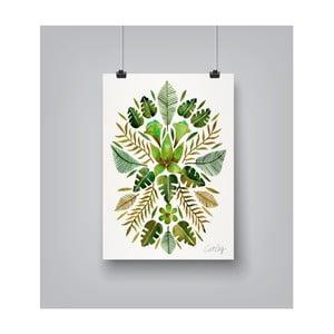 Plakat Americanflat Tropical Symmetry, 30x42 cm