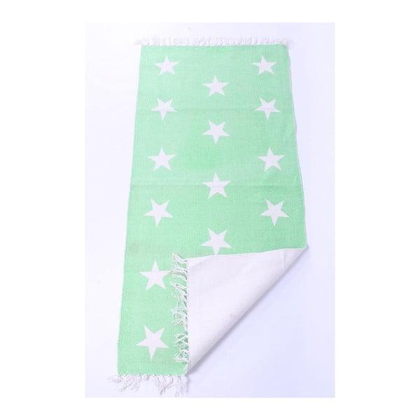 Dywan La Finesse Stars Green, 70x200 cm