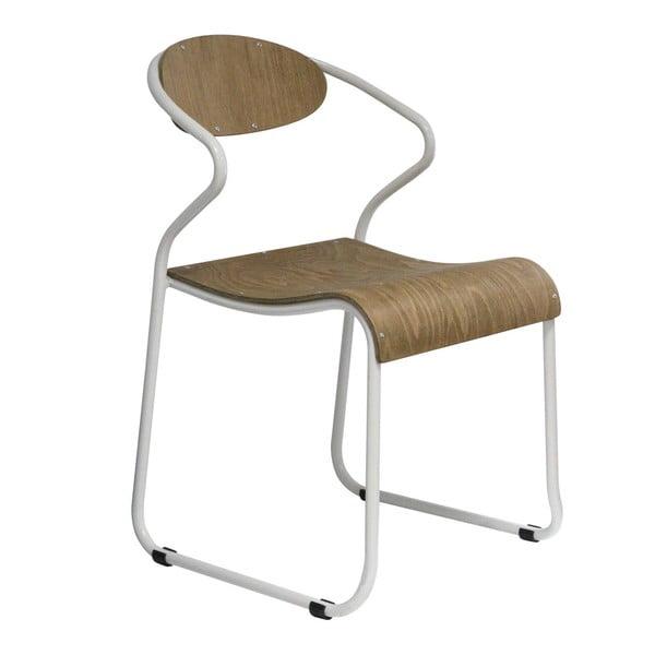 Krzesło z białymi nogami Red Cartel Walter