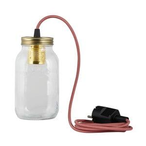 Lampa JamJar Lights, lila róż okrągły kabel