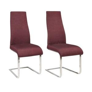 Zestaw 2 bordowych krzeseł Støraa Teresa