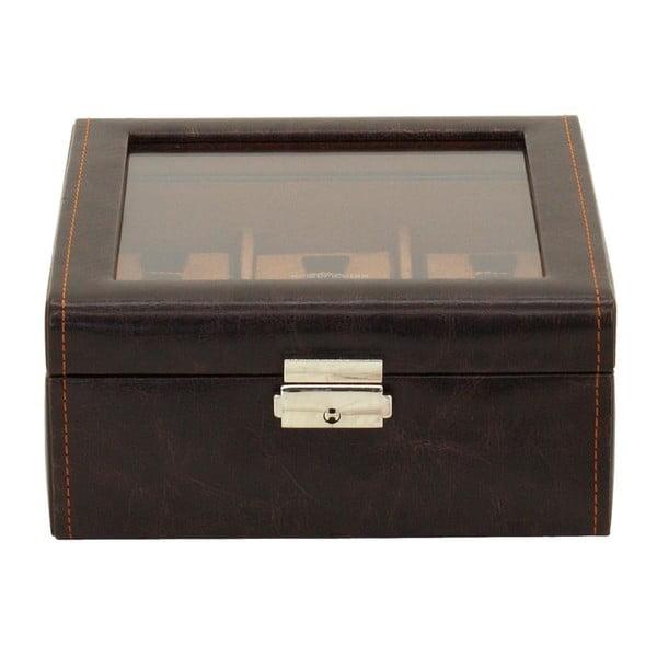Brązowy kuferek na 6 zegarków Friedrich Lederwaren Bond