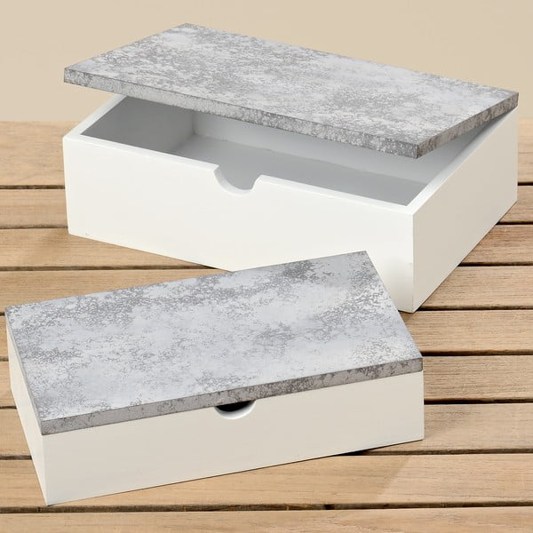 Zestaw 2 pudełek do przechowywania Brest