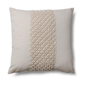Beżowa poduszka La Forma Macrame Beige, 45x45 cm