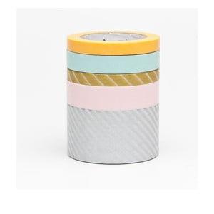 Zestaw 5 taśm dekoracyjnych washi Suite O