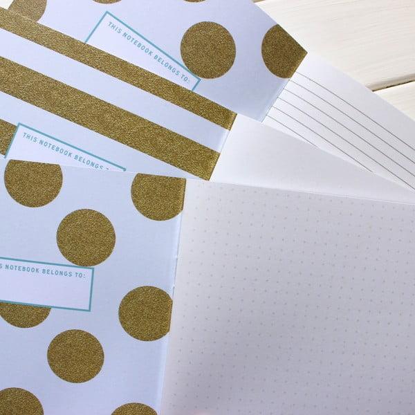 Komplet 3 notesów Secrets, Notes, Sketches A5
