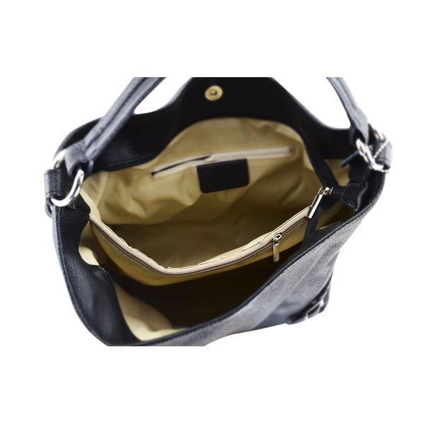 Skórzana torebka Audrey, czarna
