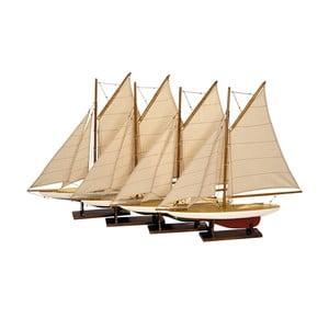 Zestaw 4 modeli żaglowca Yachts