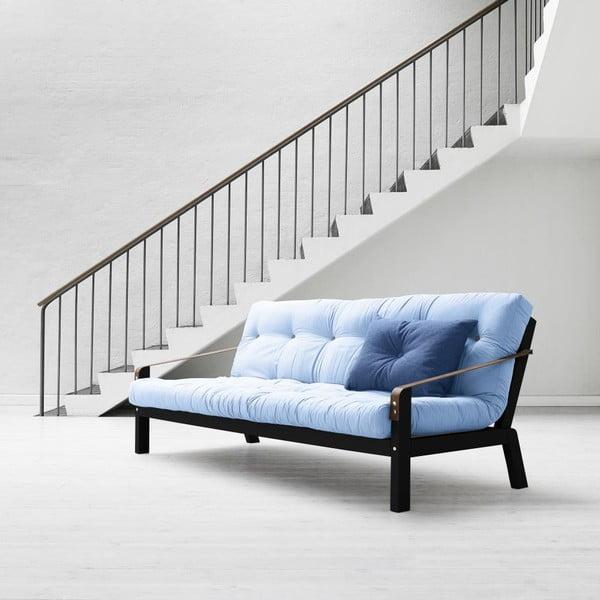 Sofa rozkładana Karup Poetry Black/Celeste/Gris