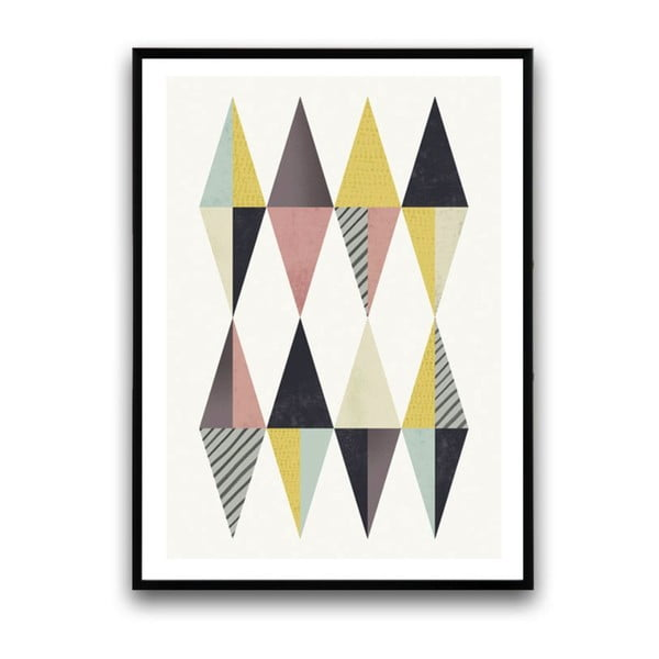 Plakat w drewnianej ramie Thymus, 38x28 cm