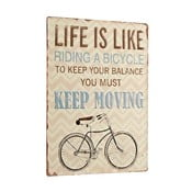 Tablica Life is like riding a bicycle, 35x26 cm