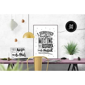 Plakat I Survived Meeting Black & White, A3