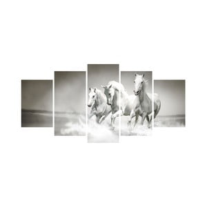 Wieloczęściowy obraz Black&White no. 61, 100x50 cm