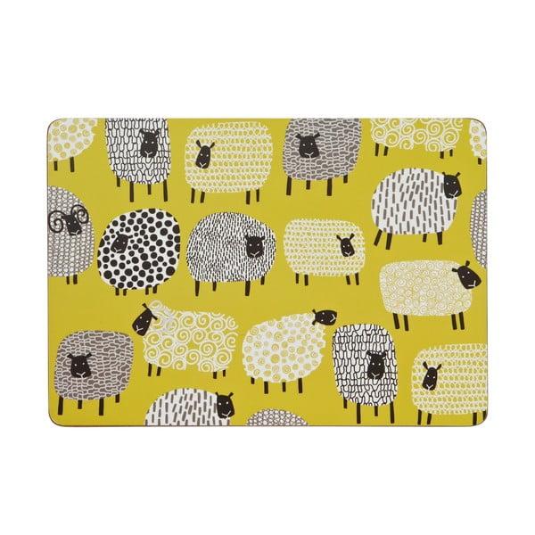 Zestaw 4 mat stołowych Dotty Sheep
