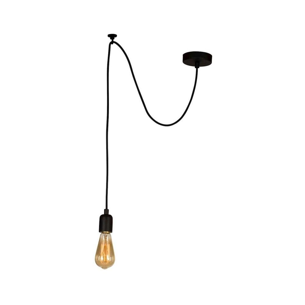 Czarna lampa wisząca Wire Hanging Lamp Larro