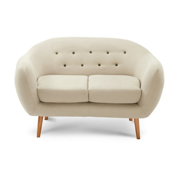 Kremowa sofa 2-osobowa Scandi by Stella Cadente Maison Constellation