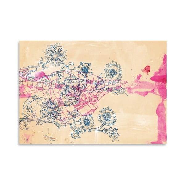 Plakat Pink Ink Study, 30x42 cm