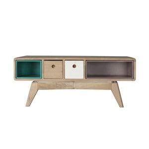 Prostokątny stolik z litego drewna mangowca Woodjam Play Light
