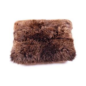 Poduszka futrzana z krótkim włosem Brown, 50x70 cm