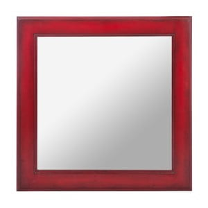 Lustro Wood Mirror Red, 50 cm