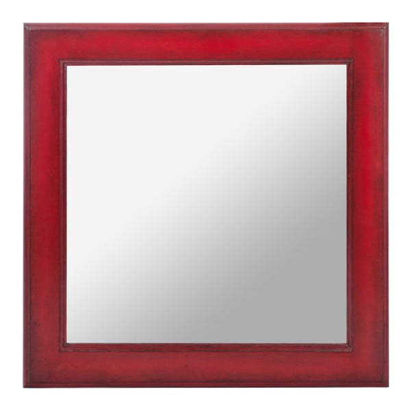 Lustro Wood Mirror Red, 50 cm