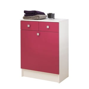Różowa szafka łazienkowa z koszem na pranie Symbiosis André, szer.60cm