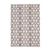 Szary dywan wełniany ręcznie tkany Linie Design Andria,140x200cm