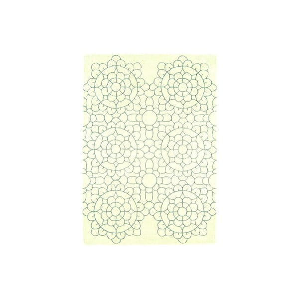 Wełniany dywan Matrix Crochet Cream, 160x230 cm