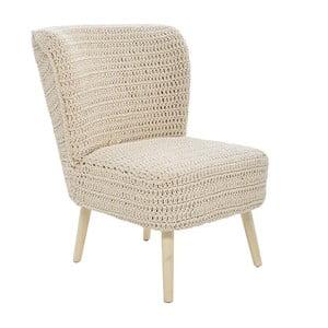 Dziergany fotel Cream, 60x65x79 cm