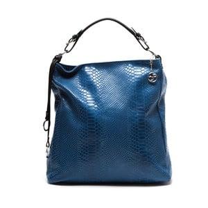 Skórzana torebka Clair, niebieska