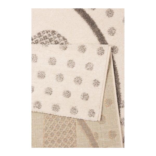 Brązowy dywan dziecięcy z szarymi detalami Zala Living Rabbit, 120x170 cm