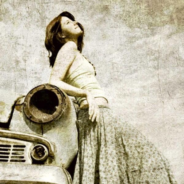 Obraz Stara miłość nie rdzewieje, 60x60 cm