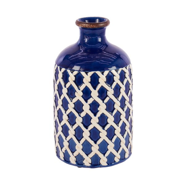 Wazon ceramiczny InArt Seaside, niebieski