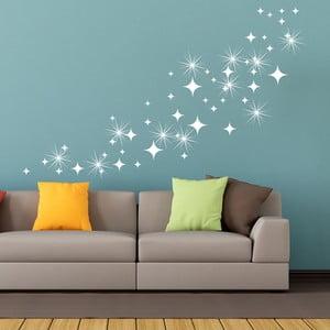 Zestaw 50 naklejek z kryształkami Swarovskiego Fanastick White Star