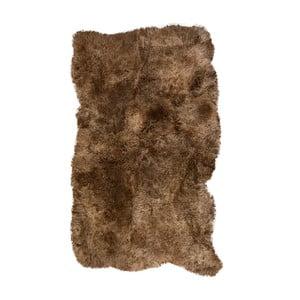 Brązowy dywan futrzany z krótkim włosiem Darte, 170x110cm