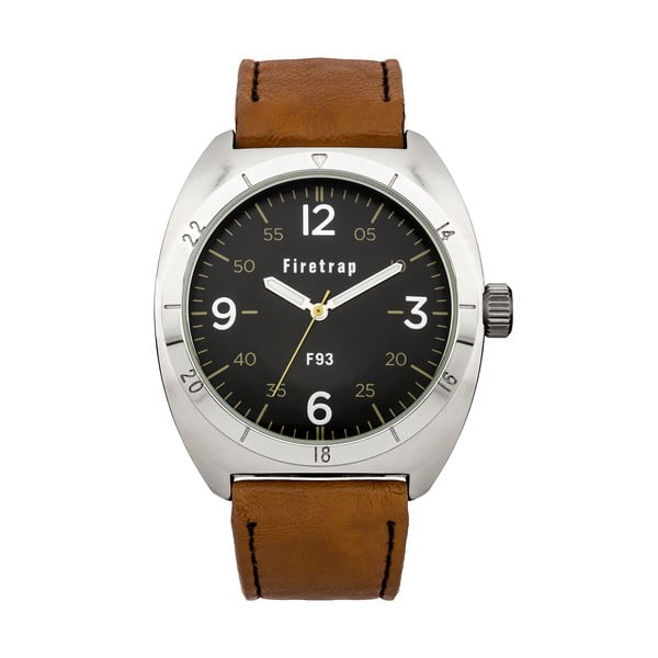 Zegarek męski Firetrap Gents Brown Strap/Black Dial, 39 mm