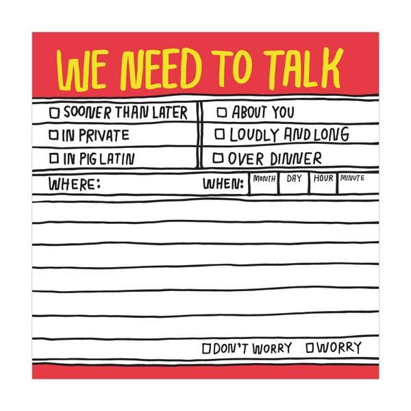 Karteczki samoprzylepne We Need To Talk